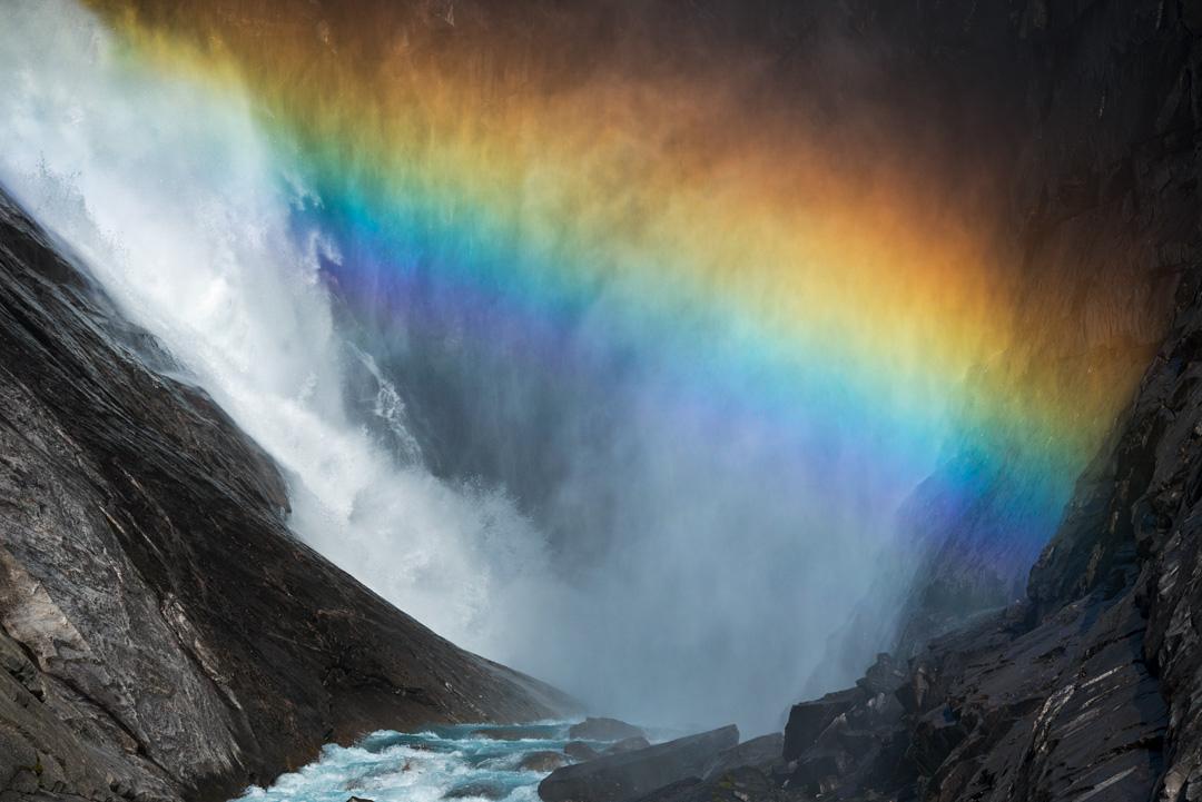 Rainbow in waterfall