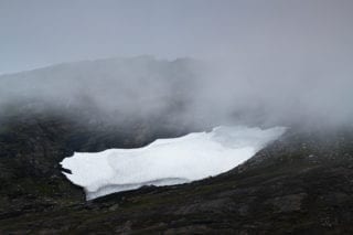 Lonely snowpatch
