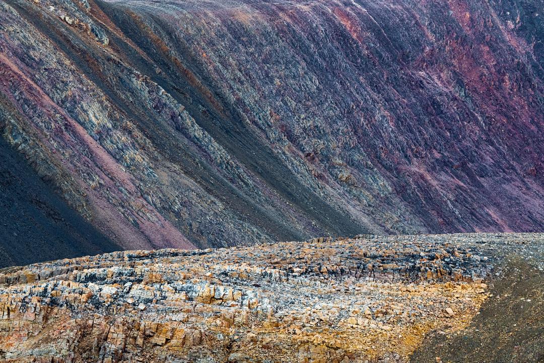 Colourful sediments