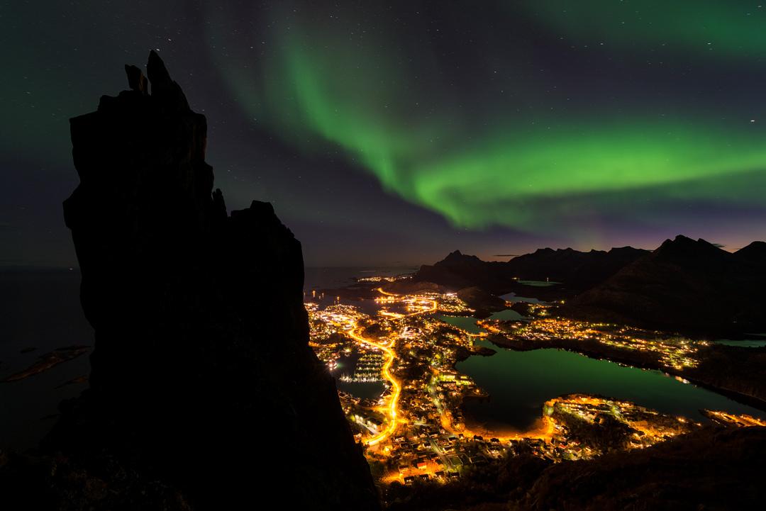 Northern lights above Svolvær